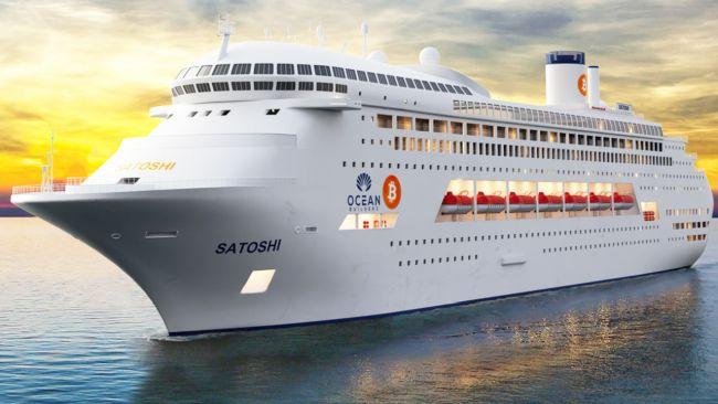 הפלגת הביטקוין הראשונה תפליג באוניית פאר מהים התיכון